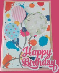 Happy birthday: shaker card
