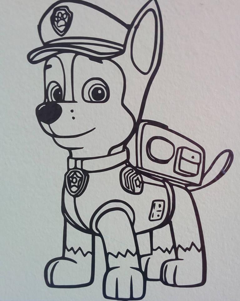 adesivi Paw Patrol in vinile: Chase