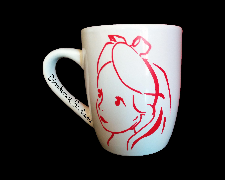 Alice: tazza decorata in vinile