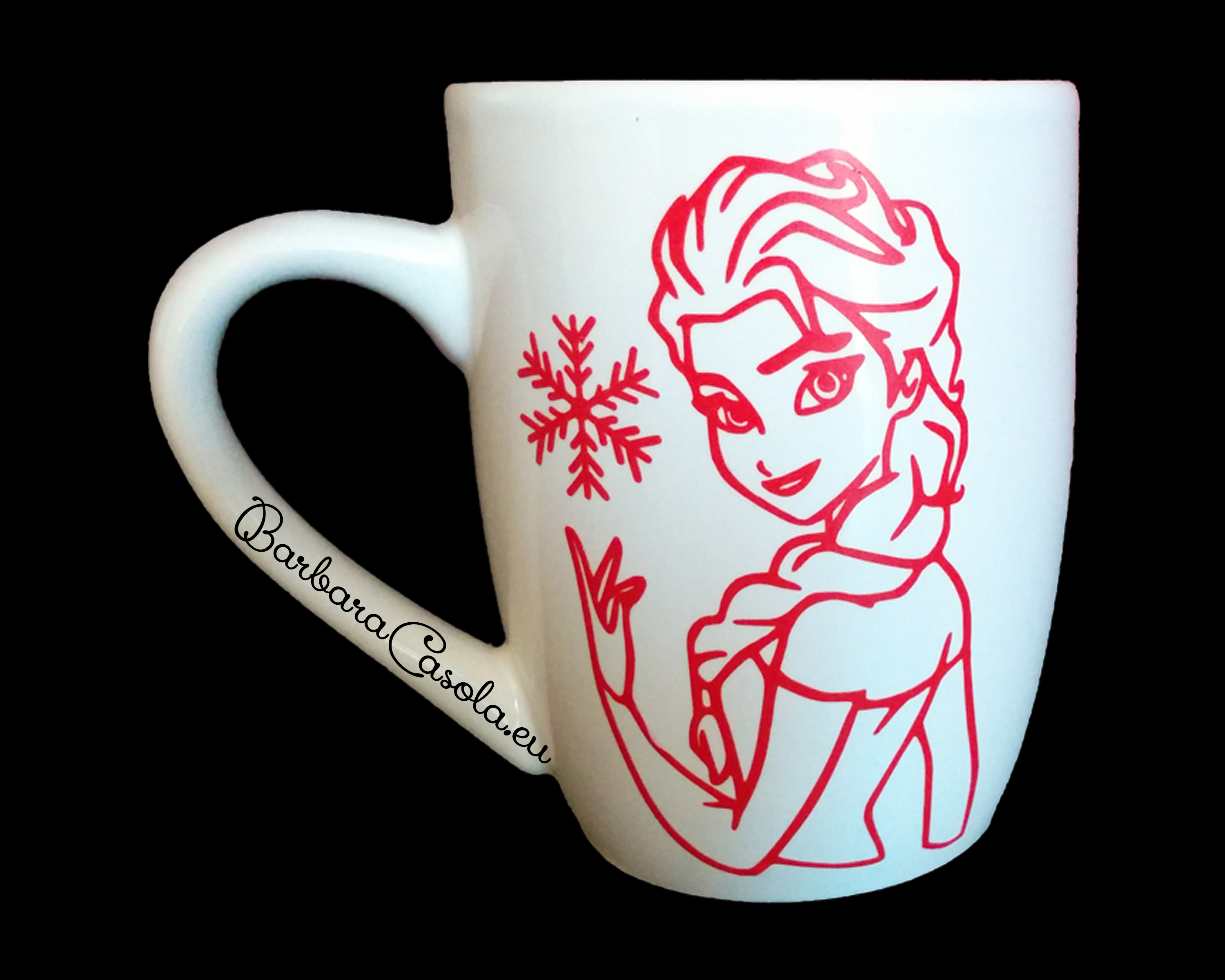 Tazza di Frozen decorata in vinile