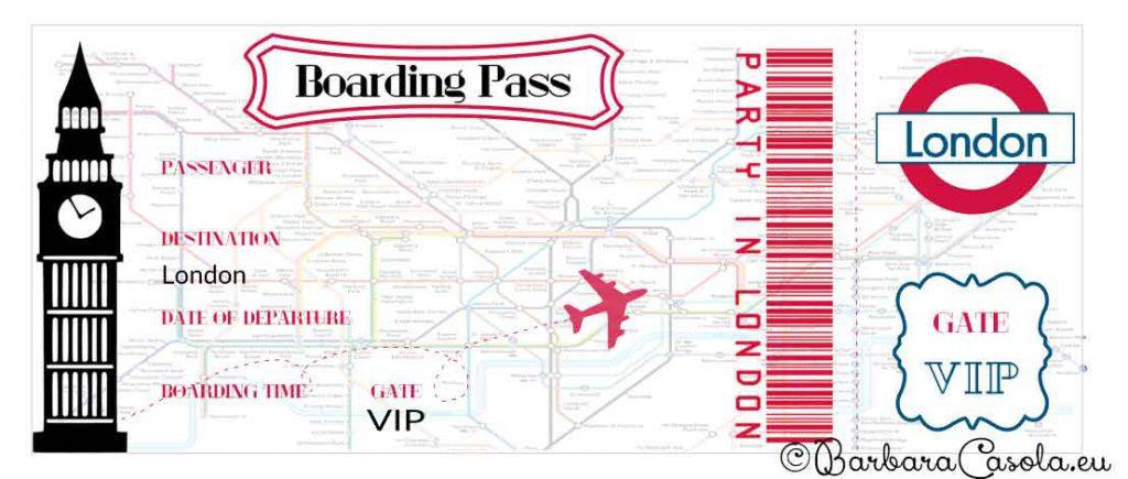 Party London biglietto aereo